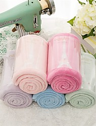 "2pc Pack High Quality Eiffel Tower Embroidery Coral Fleece Face Towel Wash Towel 13.4"" by 31.5"""