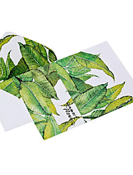 Watercolor leaves letter set envelope (2 envelope 4 stationery, stationery envelope 16.2*11.4CM, 15.9*22, random color)