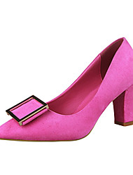 Women's Heels Summer Heels Fleece Casual Chunky Heel Others Black / Brown / Pink / Red / Gray / Fuchsia Others