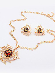 Women European Style Fashion Hot Wheels Leopard Necklace Earring Sets