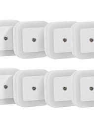 0.5 W Blanco Natura CA Recargable / Sensor Lámparas de Noche 5V V ABS