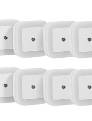 KWB 8PCS 0.5 W Natural White AC Sensor / Rechargeable Night Light 5V  ABS