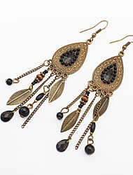 Earring Leaf Drop Earrings Jewelry Women Fashion / Vintage Party / Daily / Casual 1 pair Bronze