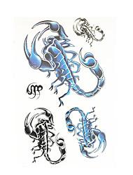 8PCS Waterproof Temporary for Women Men Body Art Tattoo Scorpions Flower Arm Tattoo Sticker Halloween Disposable