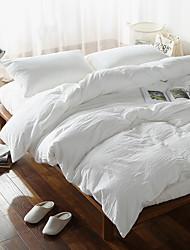 lençóis de algodão lavado define tamanho bedlinens rainha rei 4pcs conjunto de capa de edredon