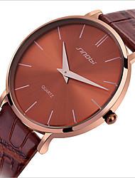Мужской Модные часы Кварцевый Защита от влаги Кожа Группа Черный / Коричневый бренд-