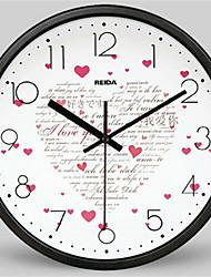 Redonda Moderno/Contemporâneo Relógio de parede,Outros Metal 30*30*4