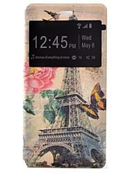 torre de transmissão pintado tensão coldre pu tampa do telefone material de concha para o Huawei Ascend P9 / P9 Lite