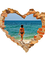 3D Wall Stickers Wall Decals Style Love Sea PVC Wall Stickers
