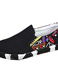 Men's Summer Comfort Fabric Casual Flat Heel Black / Blue / White