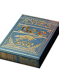 Royal St. bee bee Goldkundenspezifische große Poker-Karten Formhärtprozess blau Kippen (1 Paar)