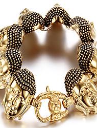 kalen®bracelet charme pulseira de forma animal de partido / dia / ocasional ouro presente da jóia, 1 peça