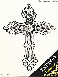 1шт Переброска воды большая картина наклейки татуировки человека обратно крест