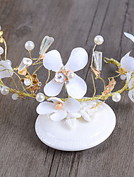 Bride's Flower Shape Wedding Hair Accessories Headbands Headpieces 1 Piece