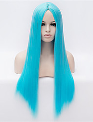 The New  Wig  in Light Blue Long Straight Hair Wigs 30 Inch