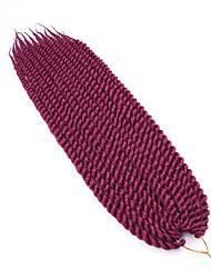 Гавана Спиральные плетенки Наращивание волос 12 14 16 18 20 22 24 Kanekalon 12 нитка 80-120 грамм косы волос