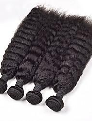 Cheveux Malaisiens Droit 6 Mois 4 Pièces tissages de cheveux