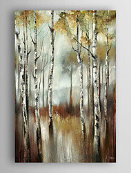 Hand Painted Oil Painting  Landscape Abstract The Water of Birch Trees with Stretched Frame 7 Wall Arts®