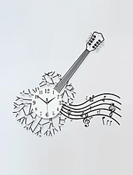Modern Creative Fashion Guitar Metal Mute Wall Clock