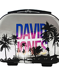 DAVIDJONES Women's Fashion Casual Multifunctional Artwork Cosmetic Makeup Bag Storage Tote Organizer-Palmier