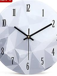 Kreisförmig Modern/Zeitgenössisch Wanduhr,Anderen Metall 25*25*2.5