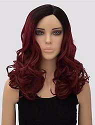 Women Long Body Wave Multi-color Synthetic Wig