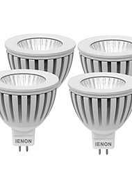 IENON® 4 pcs 3W  GU5.3  LED Spotlight MR16 1 COB 240-270 lm Warm White / Cool White Decorative DC 12 / AC 12 V
