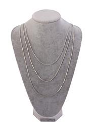 Femme Colliers chaînes Collier multi rangs Cristal Argent Bijoux Pour Mariage Soirée Quotidien 1pc
