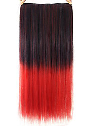 Straight Red Colorful Human Hair Lace Wigs 1T113