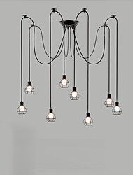 8 Lights Max 60W Retro Designers Metal Chandeliers Living Room / Bedroom / Dining Room / Kitchen / Study Room/Office