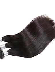 "Grade 8A 3pcs 8""-30"" Brazilian Virgin Hair Straight Natural Black Human Hair"