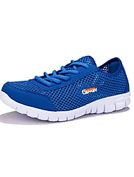Les chaussures de course des femmes tulle plat confort talon chaussures de mode en plein air bleu / gris / fuchsia