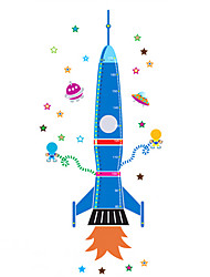 80-170Cm Fashion Personality Rocket Height Stickers Cartoon PVC Kids Living Room Bedroom Wall Stickers