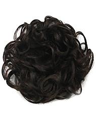 парик черный 6см высокотемпературный провод круг волос цвет 2/33