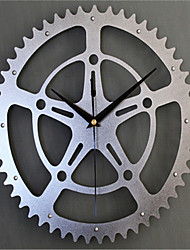 Solid Rivet Metal Gear Block Wall Clock