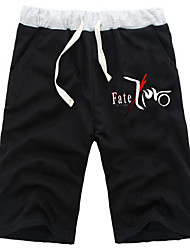 Inspirado por Fate/Stay Night Saber Animé Disfraces de cosplay Tops Bottoms Cosplay Un Color Negro / Gris Pantalones Cortos