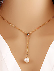 Necklace Pendant Necklaces / Pearl Necklace Jewelry Wedding / Party / Daily / Casual Pearl / Alloy / Imitation Pearl Gold 1pc Gift