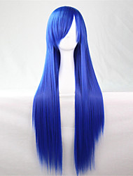 Europa und die Vereinigten Staaten die neue Farbe Perücke 80 cm breit Saphir Perücke langen glatten Haaren