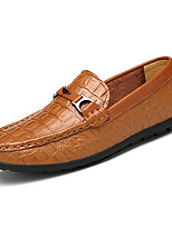 Men's Shoes Wedding / Office & Career / Party & Evening / Casual Nappa Leather Loafers Big Size Black / Brown
