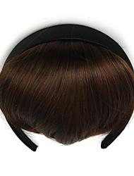 cabelo humano marrom retardador cabeça encaracolado Kinky tece chignons 2/30