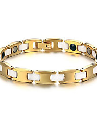 Magnetic Therapy Bracelet Men's Jewelry Health Care Gold Tungsten Steel Bracelet