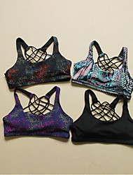 Yoga Fitness Sports Bra Breathable Quick-drying Underwear Stars No Rims America Back Shockproof