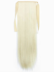 Flaxen Length 60CM Synthetic Bind Type Long Straight Hair Wig Horsetail(Color 613)