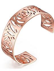 Women's Fashion Hollow Stainless Steel Cuff Bracelet