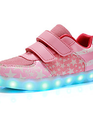LED'S Shoes Girls' Shoes Outdoor / Casual Comfort / Closed Toe Synthetic / Tulle Fashion Sneakers Pink / Navy