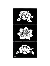 1pc Henna Airbrush Stencil Tattoo Temporary Non Toxic Flower Pattern Body Art Printing Tattoo S251