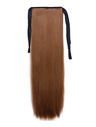 Brown Length 60CM Synthetic Bind Type Long Straight Hair Wig Horsetail(Color 12)