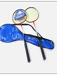 Raquettes de badminton(Rouge / Bleu,Alliage de fer) -Indéformable