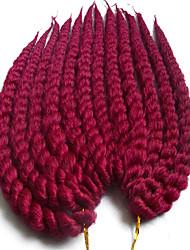 """Tranças torção Havana fibra sintética # 27 # 30 Azul Cinzento Erro Extensões de cabelo 40cm 45cm 51cm 56cm 24 """" Tranças de cabelo"""