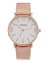 Women's Fashion Ultrathin Belt Rose Gold Quartz Simple Couple's Romance Time Rome Dial Watches